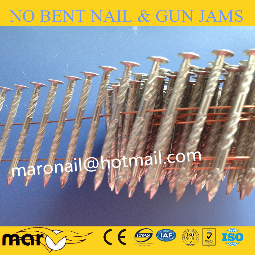 3 galvanized coil nails